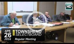 Townshend Selectboard Mtg 4/26/16
