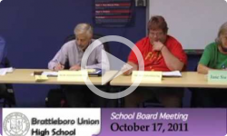 Brattleboro Union High School Bd. Mtg. 10/17/11