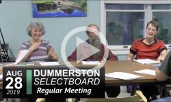 Dummerston Selectboard Mtg 8/28/19