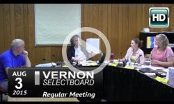 Vernon Selectboard Mtg 8/3/15